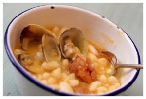 White Bean Stew with Clams and Chorizo