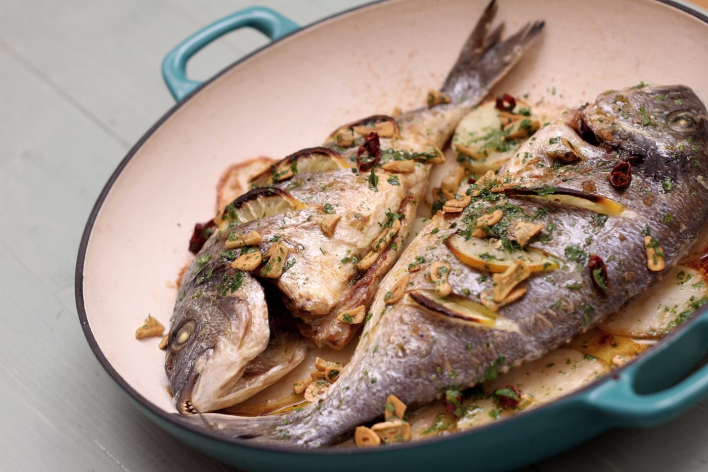 Basque Baked Sea Bream Recipe