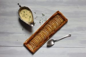 Basque Apple Tart with Thyme Custard