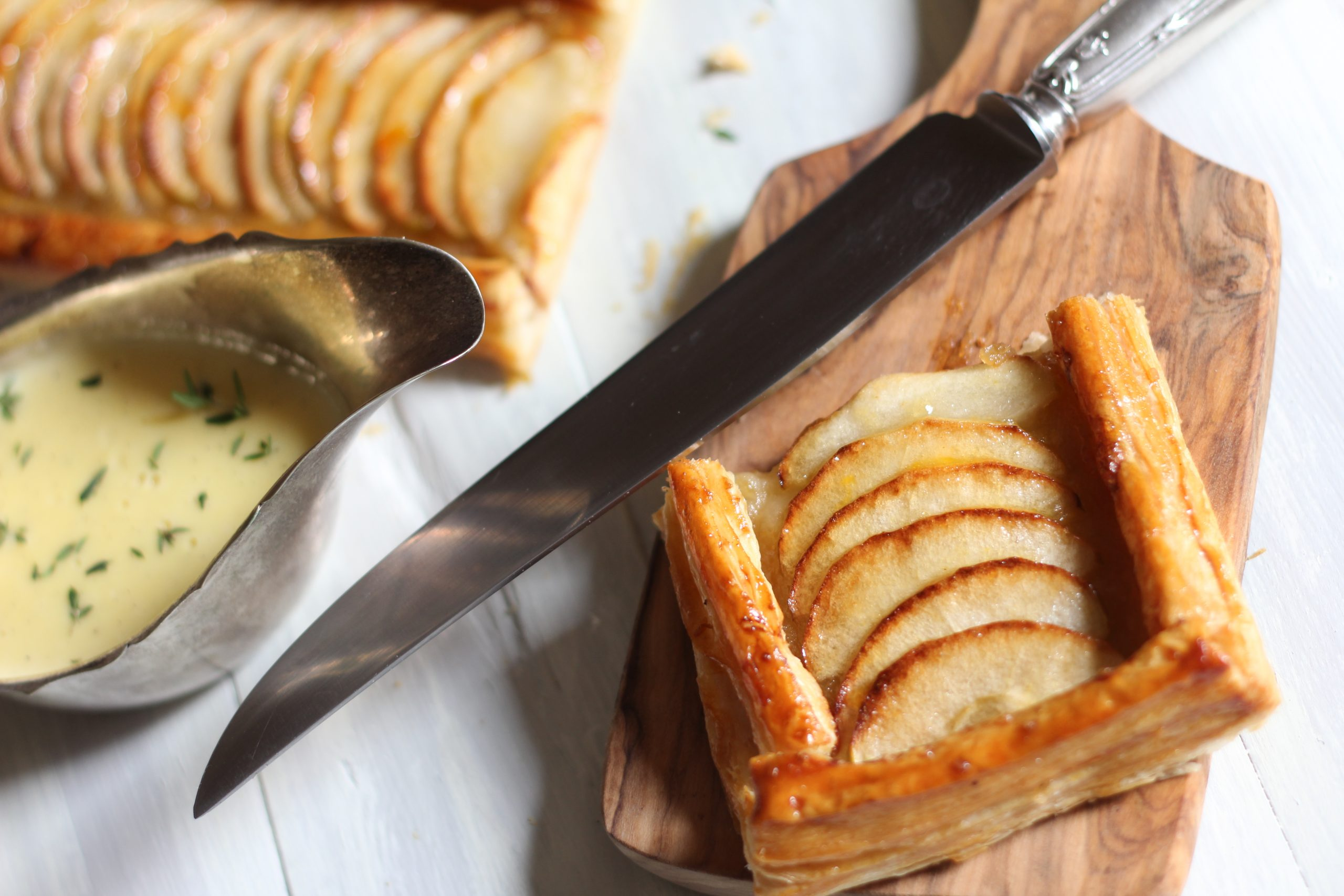 Basque Apple Tart with Thyme Custard