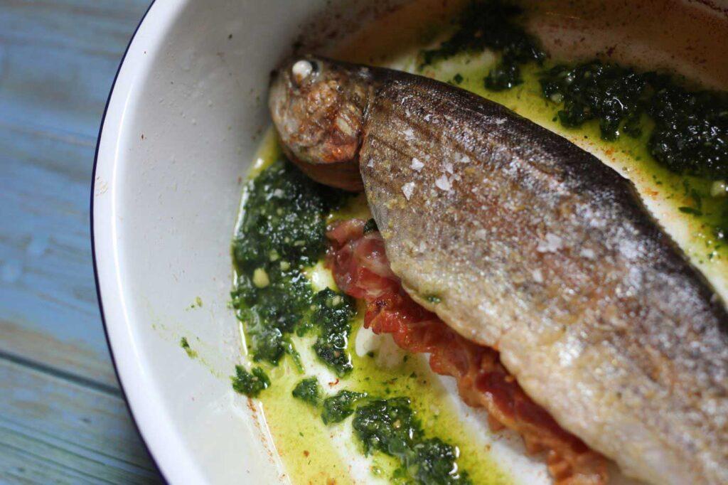 Trucha a la Navarra Recipe