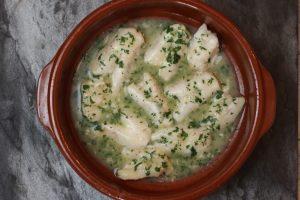 Kokotxas in Salsa Verde