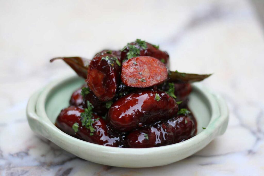 Spicy Chorizo Sausage Recipe with Honey and Red Wine