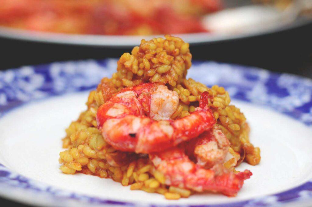 Paella Rice with Carabinero Prawns