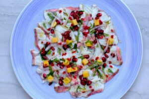 Red Mullet Ceviche with Mango and Pomegranate