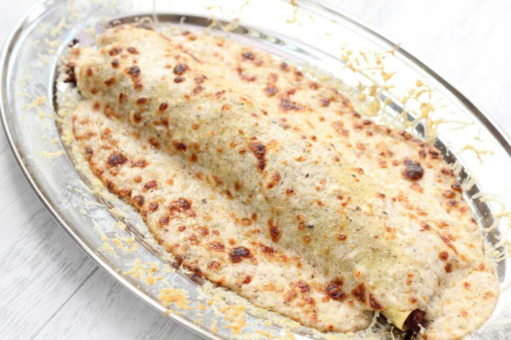 Pork Cheek Cannelloni with Truffle Cream