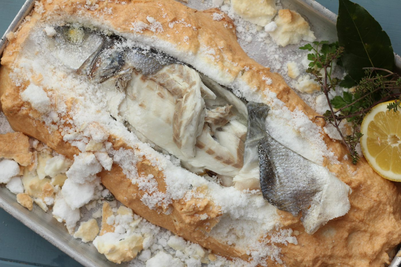 Salt Baked Sea Bass
