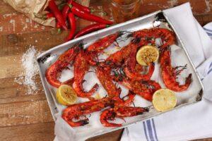Barbecued Piri Piri Prawns