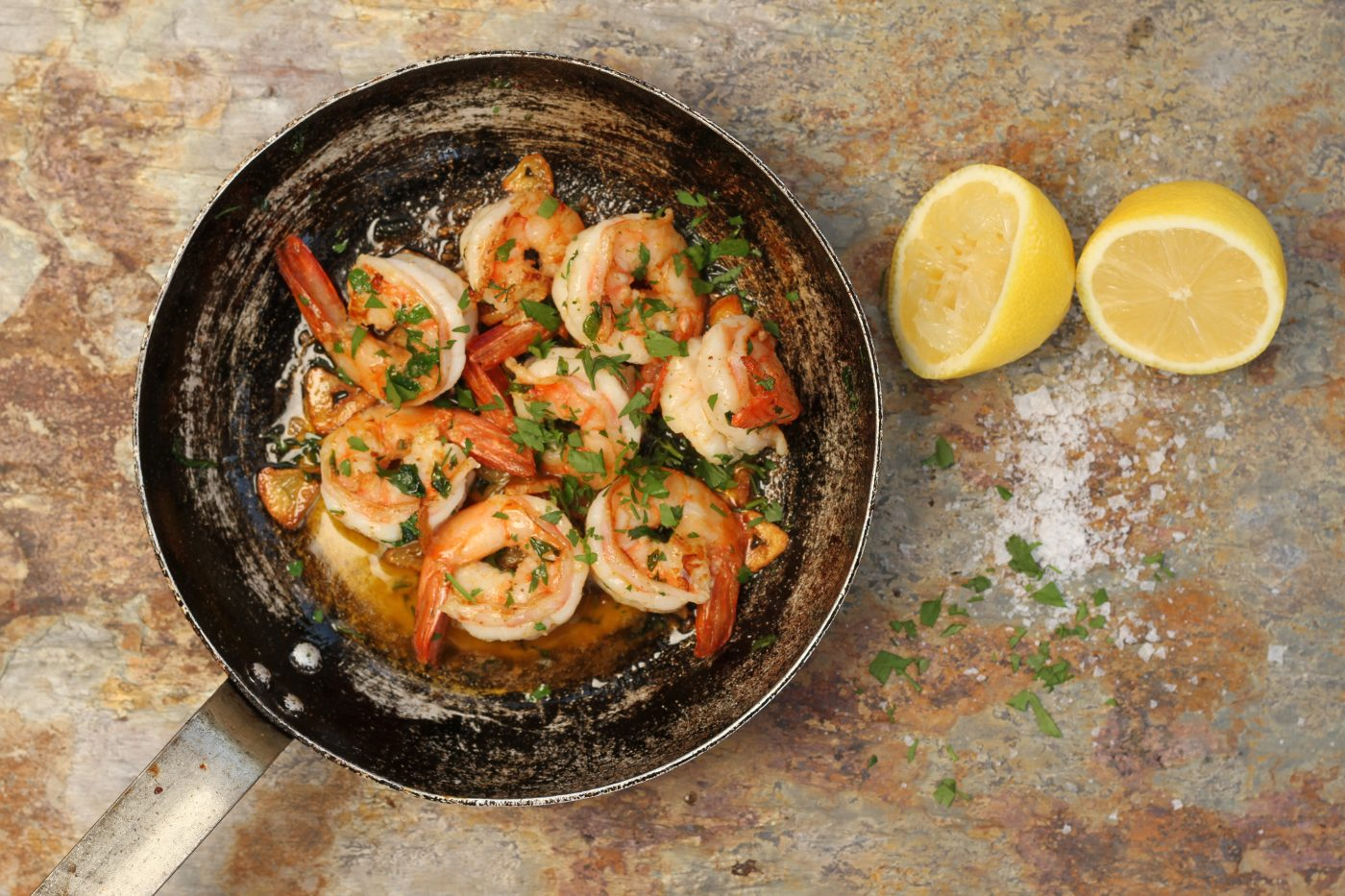 Prawns with Garlic and Lemon