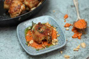 Chicken Tapas with Romesco Sauce