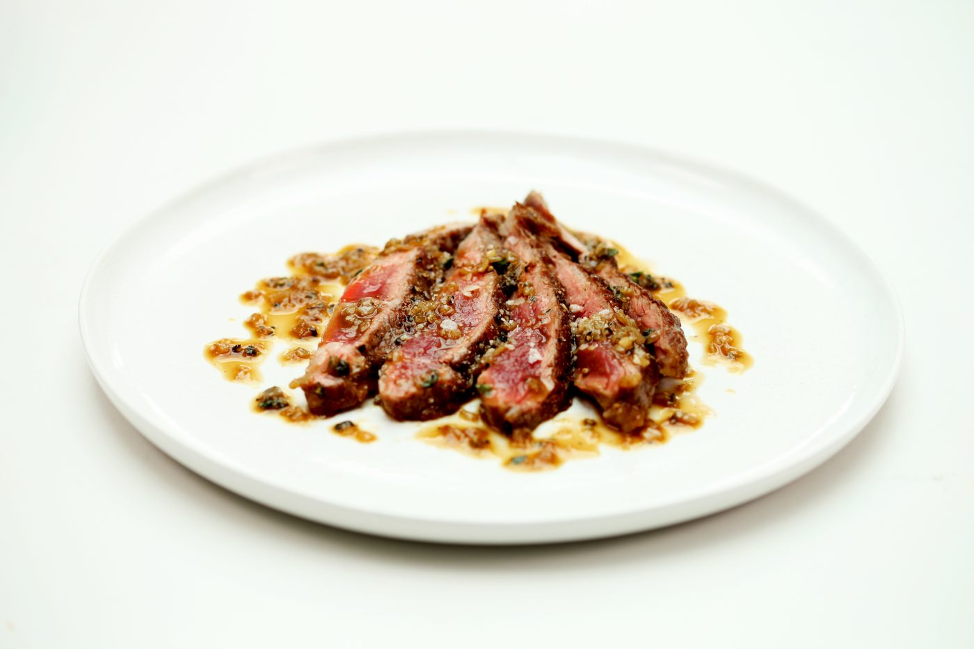 Abanico Iberico Pork with Peppercorn Sauce