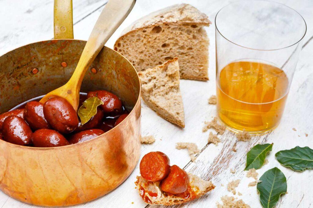 Chorizo in Cider