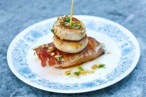 Garlic Mushroom and Ibérico Ham Pintxo