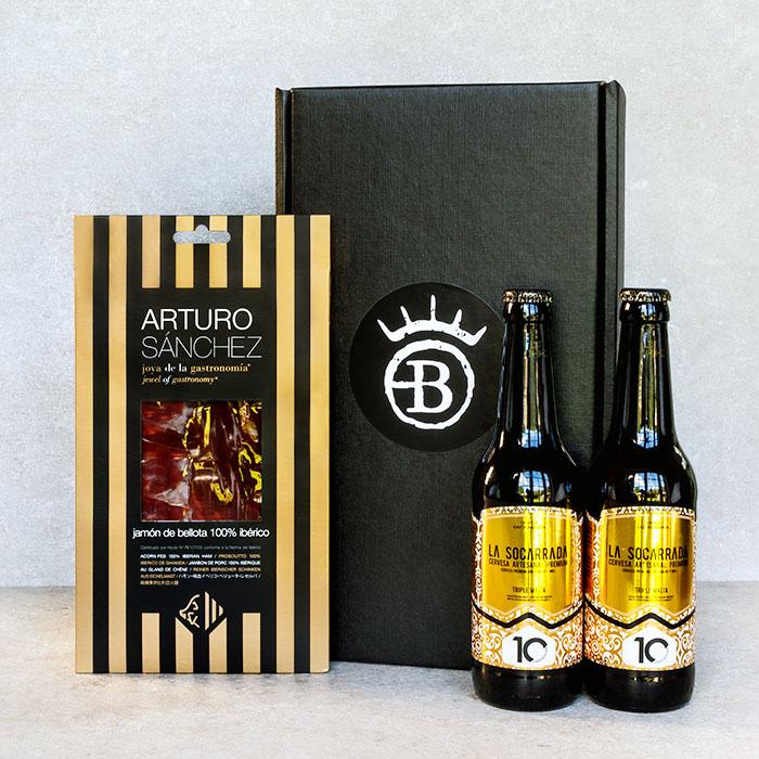 Iberico Ham and Beer Gift Box