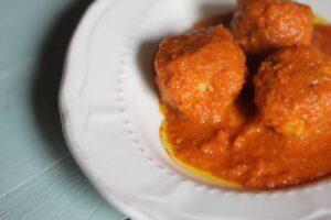 Bonito Tuna Balls in Tomato Sauce