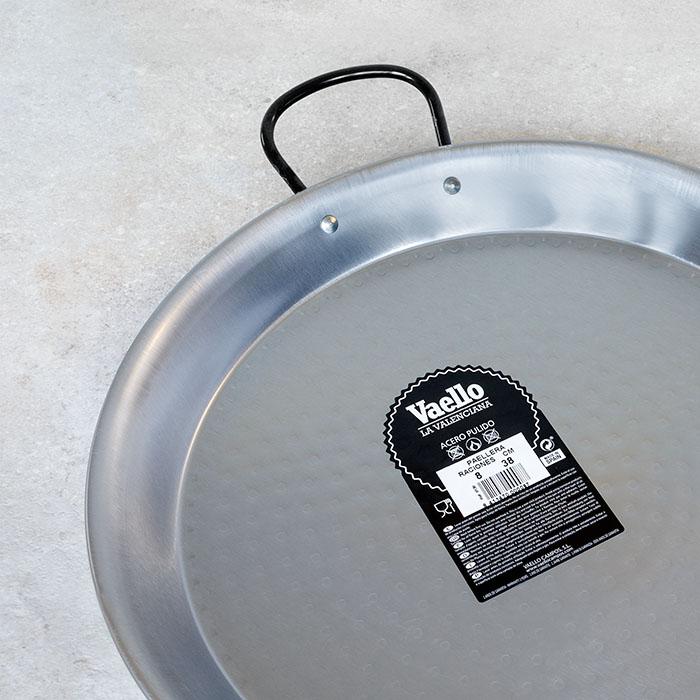 Vaello La Valenciana Polished Steel Paella Pan 38cm
