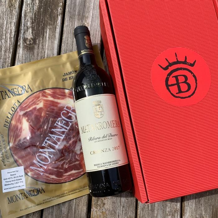 Ham and Wine Gift Box