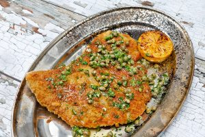 Ibérico Pork Schnitzel with Caper and Lemon Butter