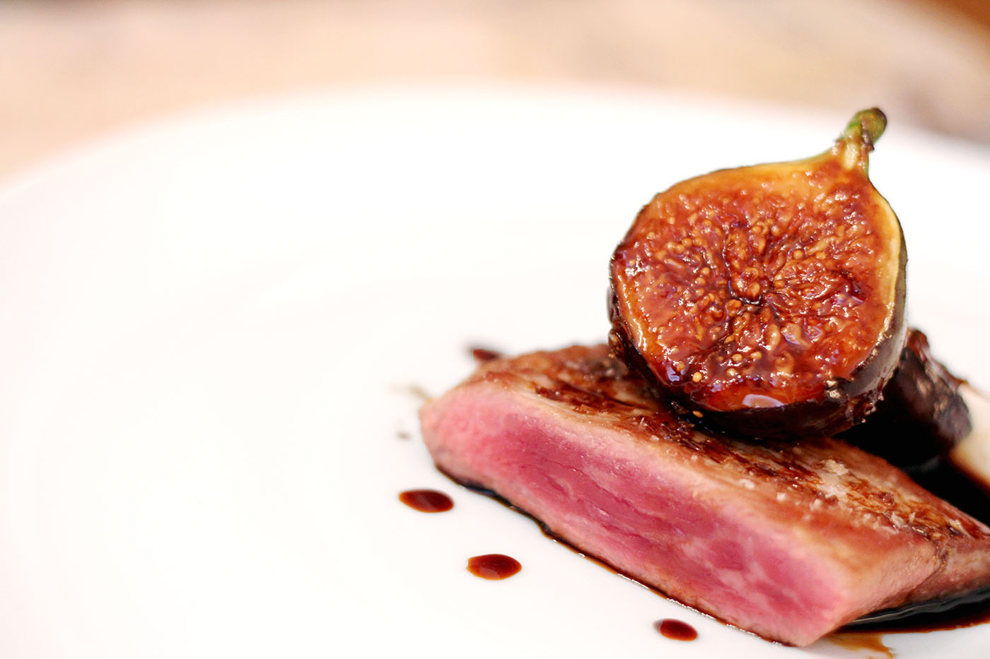 Secreto Ibérico with Caramelised Figs and Oloroso Reduction