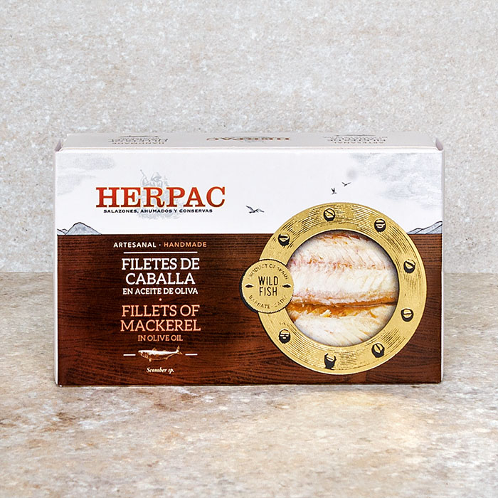 Herpac Mackerel Fillets in Olive Oil