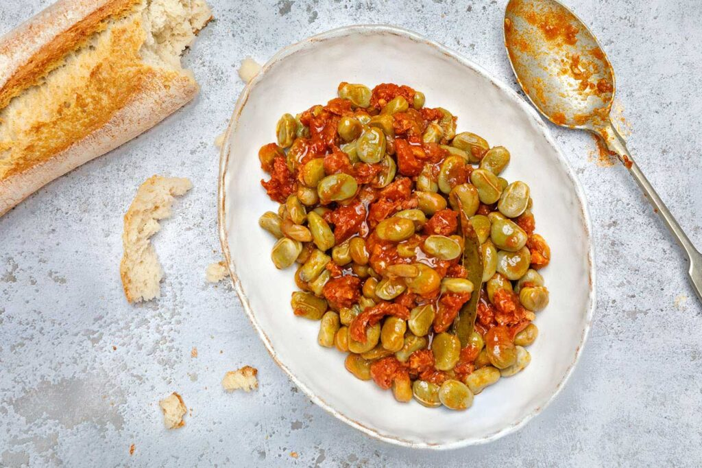 Habas con Chorizo – Chorizo stew with butter beans